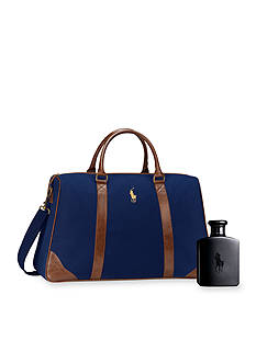 Ralph Lauren Polo Double Black Duffle Pack On Gift Set