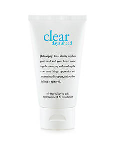 philosophy clear days ahead acne treatment & moisturizer