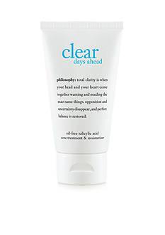 philosophy clear days ahead acne treatment & moisturizer