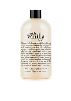 philosophy french vanilla bean shampoo, shower gel, & bubble bath