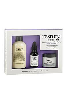 philosophy restore & nourish kit