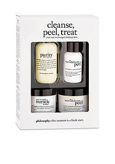 philosophy cleanse, peel, treat trial kit