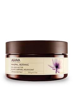 AHAVA Mineral Botanic Lotus & Chestnut Rich Body Butter