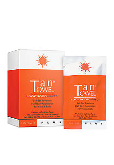 TanTowel Half Body Plus 10 Pack Self-Tanning Towelettes