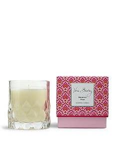 Vera Bradley Macaroon Rose Candle in Glass
