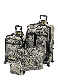 Waverly Boutique 4-Piece Luggage Set Paddock Shawl Onyx