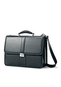 Samsonite Flapover Leather Business Case