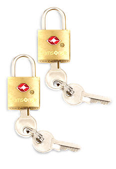 Samsonite 2 Pack Brass TSA Locks