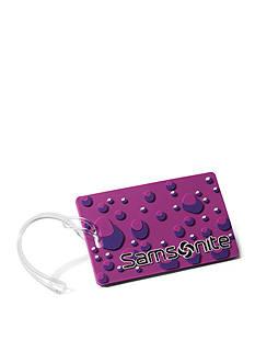 Samsonite Purple Bubble Luggage Tag Set