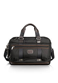 Tumi Alpha Bravo Pinckney Flap Brief - Hickory