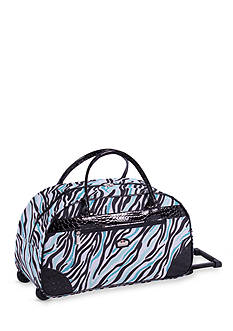 Gloria Vanderbilt Metropolitan Blue Zebra 20-in. Rolling Carry On