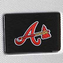Denco Sports Luggage: Silver Denco Atlanta Braves Hardside 20-in. Spinner - Online Only