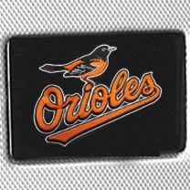 Denco Sports Luggage: Silver Denco Baltimore Orioles Hardside 20-in. Spinner - Online Only