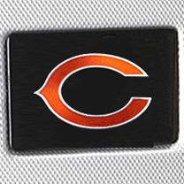 For the Home: Hardside Sale: Silver Denco Chicago Bears Hardside 20-in. Spinner - Online Only