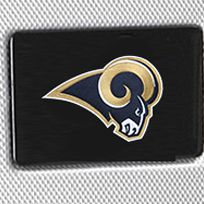 Hard Case Luggage: Silver Denco St. Louis Rams Hardside 20-in. Spinner - Online Only