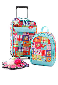 J Khaki 2-piece Luggage Set- Love Doves