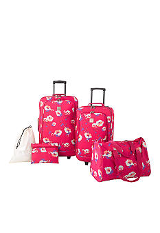 New Directions 5 Piece Luggage Set - Poppy