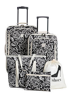 New Directions® 5-Piece Luggage Set - Ivory Vine