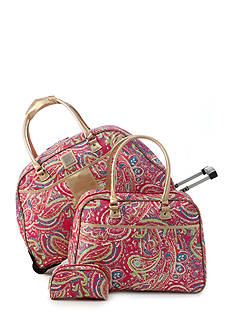 New Directions 3-Piece Pink Paisley Luggage Set