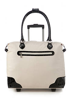 New Directions Tote Bag Cream/Black Crocodile Trim
