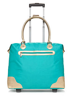 New Directions Turquoise Tote Bag with Gold Trim
