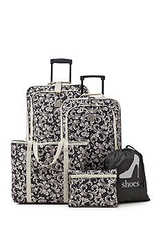 New Directions 5-Piece Ivory Vine Luggage Set