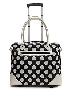 New Directions Black Stone Dot Rolling Tote