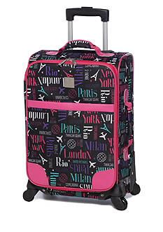 New Directions I Fly Free City Print Pink Trim