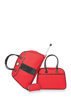 New Directions 3-Piece Luggage Set - Red