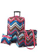 New Directions® 3 Piece Luggage Set - Zigzag