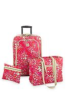 New Directions® 3 Piece Luggage Set- Pink Animal