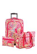 New Directions® 3 Piece Luggage Set- Pink Paisley