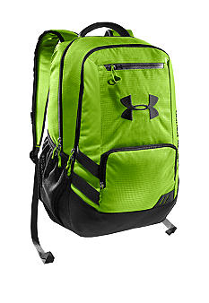 Under Armour Hustle Backpack Hyper Green with Black