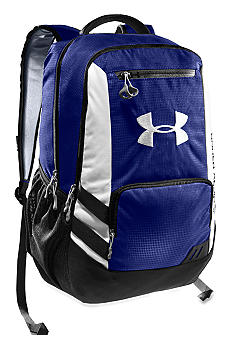 Under Armour Hustle Backpack in Royal with White