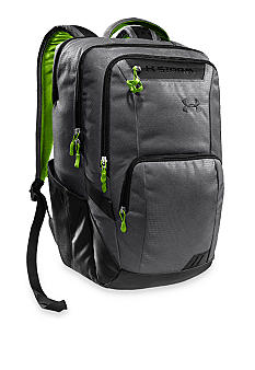 Under Armour Keyser Backpack in Graphite with Hyper Green