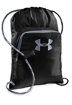 Under Armour Exeter Sackpack in Black with Steel