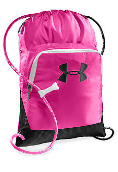 Under Armour Exeter Sackpack in Pinkadelic with Black