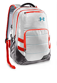 Under Armour Camden Backpack in White with Charcoal