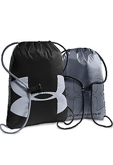 Under Armour Ozzie Sackpack in Black with Steel