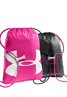 Under Armour Ozzie Sackpack in Pinkadelic with Black