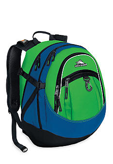 High Sierra Fatboy Backpack - Kelly Green Royal Blue