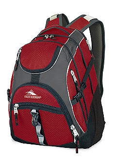 High Sierra Access Backpack - Charcoal Carmine