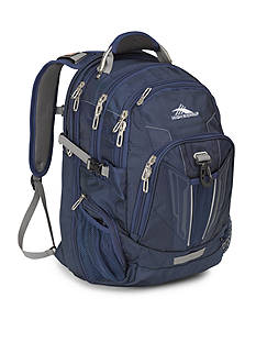 High Sierra TSA Backpack - True Navy/Charcoal