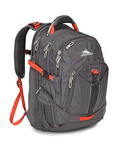 High Sierra TSA Backpack - Mercury Crimson
