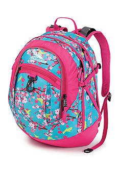High Sierra Fatboy Daypack Birds and Blossoms - Fuchsia