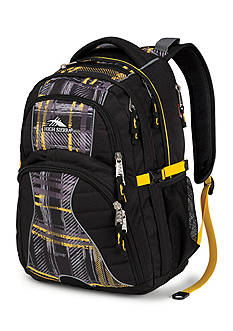 High Sierra Swerve Backpack - Black Plaid