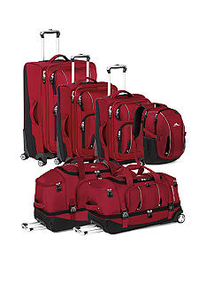 High Sierra Endeavor Carmine Red Luggage Collection