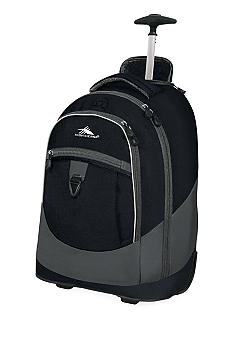 High Sierra Chaser Wheeled Backpack - Black Charcoal
