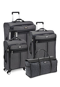 Hartmann Herringbone Luggage collection - Black Jacquard