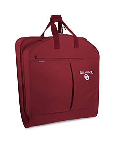 WallyBags Oklahmoa Sooners 40-in. Garment Bag with Pockets